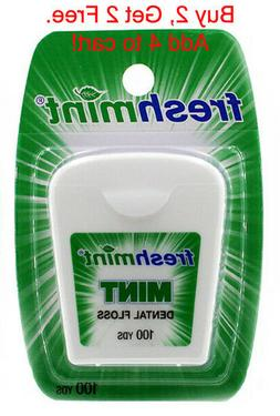 Fresh Mint Wax Dental Floss Teeth Flosser Oral Care, 100 Yar