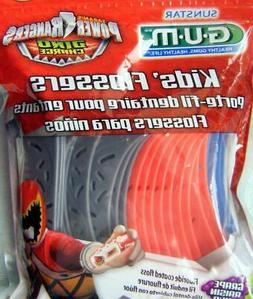 240 GUM Kid's Power Rangers Flossers, Floss Picks. Dino Char