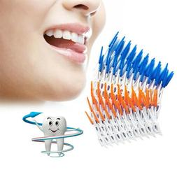 massage gums brushes 80pcs silicone dental flosser
