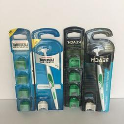 Reach Access Flosser GreenHandle w/3 Heads &Package of Mint