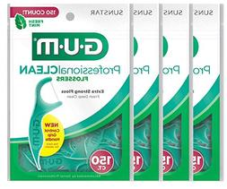 GUM Professional Clean Mint Flossers  600 Flossers