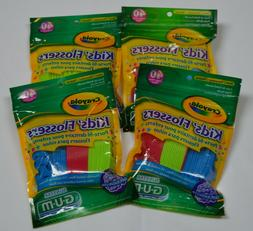 GUM Crayola™ Kids' Flossers FOUR PACKS 40 Count Each 160 F