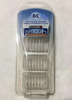 Reach Daily Flosser, Refill Pack with Disposable Snap-On Hea