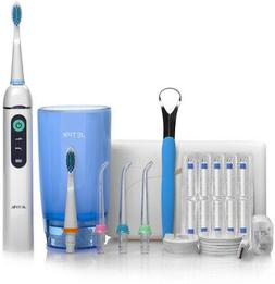 Electric Water Flosser Set With Travel Case, Charger, Tongue