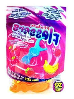 Plackers Kids Flossers with Fluoride Fruit Smoothie Swirl Fl