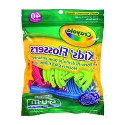 Butler Gum Crayola Dental Flossers For Kids - 40 Ea by SUNST