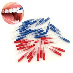 LKE 50pcs/pack Interdental Brush Tooth Flossing Head Oral De
