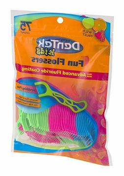 Dentek Kids Fun Flossers with Advanced Fluoride Coating | 75