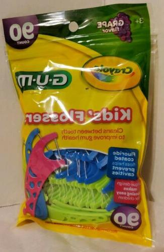 3 crayola kids flossers fluoride coated floss