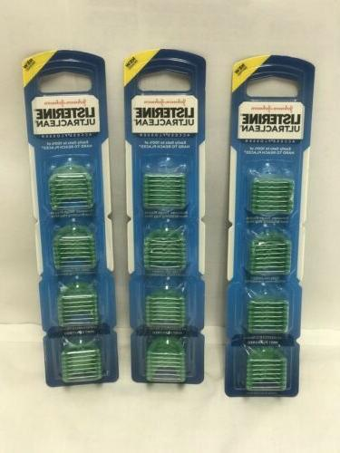 3 LISTERINE Ultraclean Access Flosser Refill Fresh Mint Crys