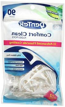 DenTek Comfort Clean Silk Floss Picks, Fresh Mint, 90 Count