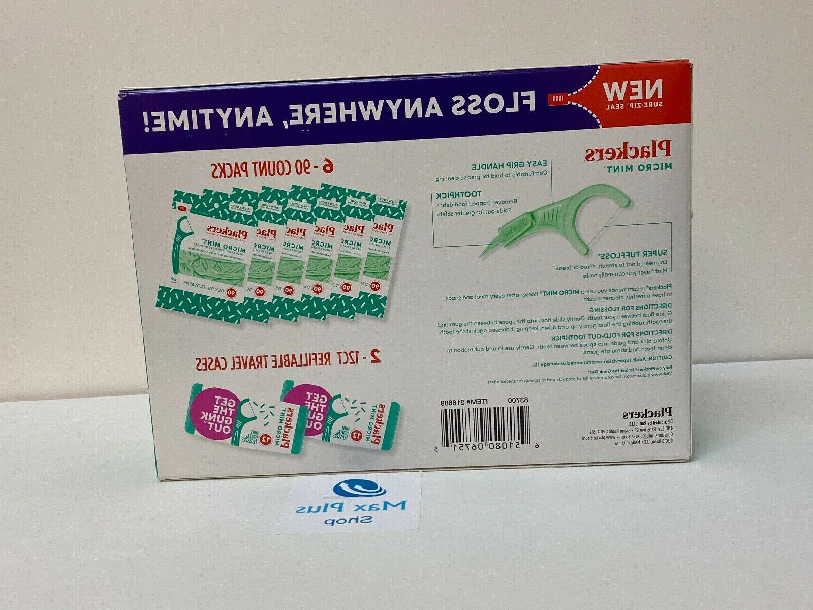 Plackers Micro Floss Picks 564 ct. With 2-12ct Cases