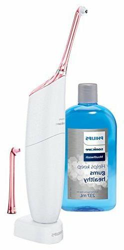 Philips Sonicare Pink AirFloss Pro Power Flosser & Mouthwash