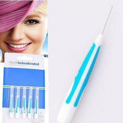 portable 5pcs oral flosser interdental brush cleaning
