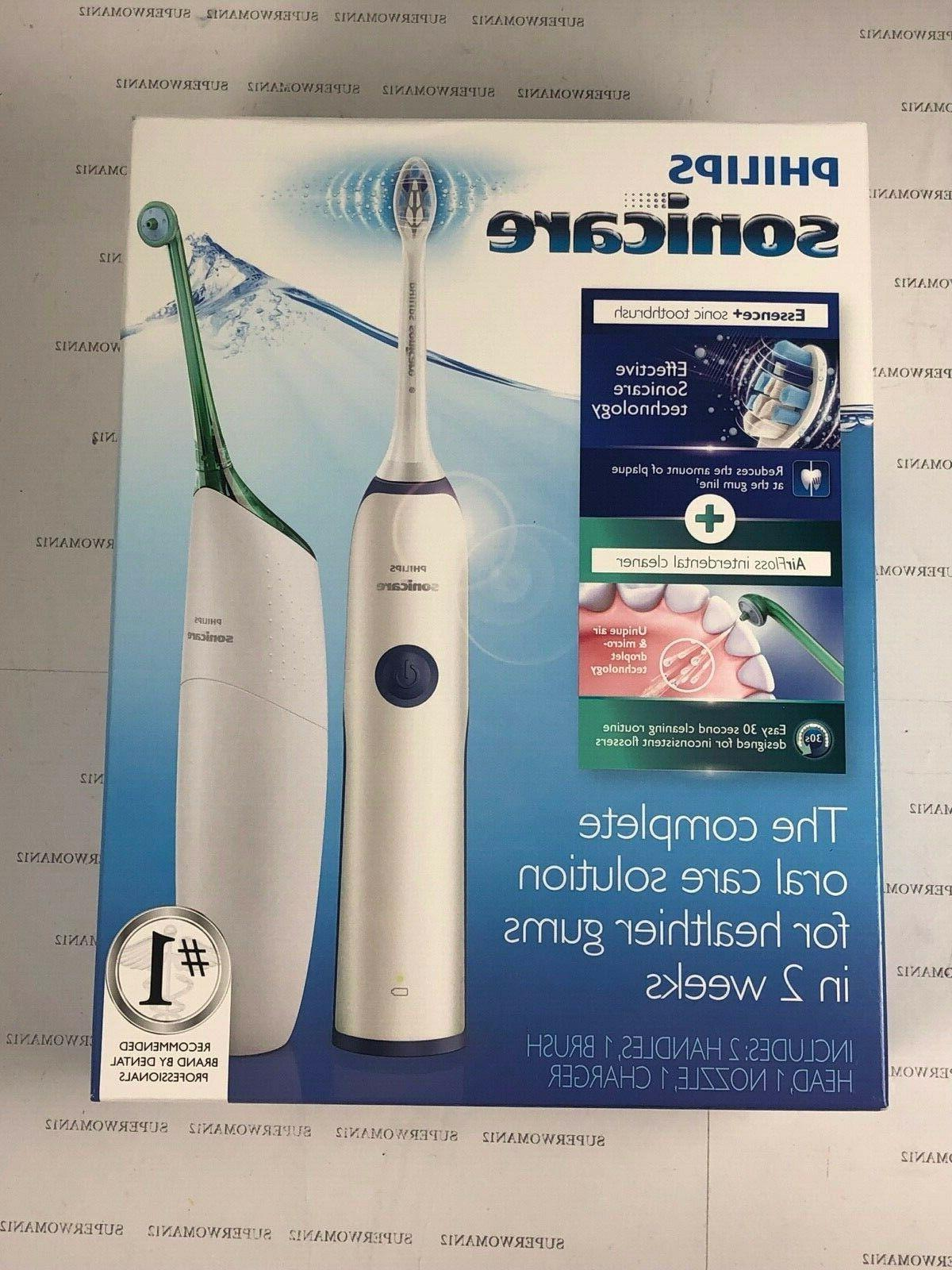 rechargeable electric sonic care toothbrush w airfloss