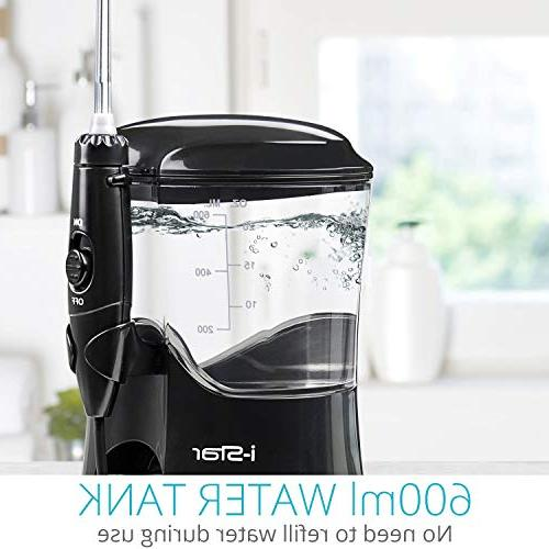 Water Flosser | i-Star Family Care & CE Approved 600ml Capacity Tank & 9 Interchangeable | Clean Healthy Gums | Ideal Family