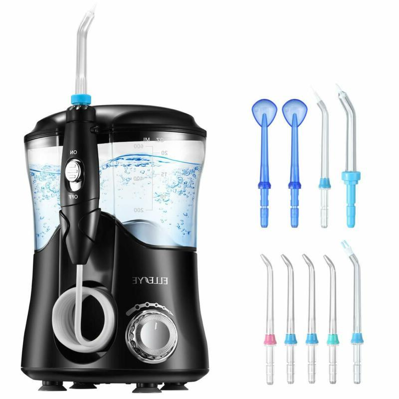 water flosser oral irrigator 600ml with 9
