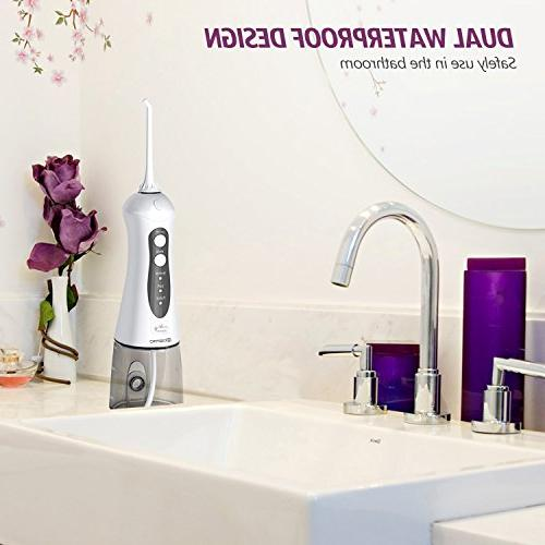 Water Cordless Dental Oral - Portable Waterproof 3 Water Flossing with Tank for and Travel, Care