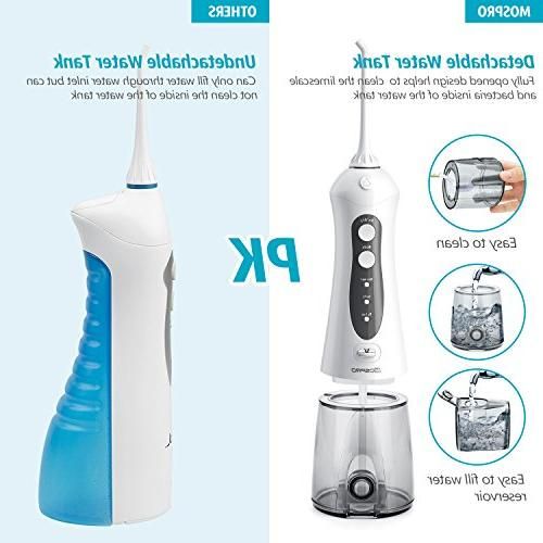 Water Flosser Professional Dental Oral Irrigator Portable and Waterproof 3 Tank Home Travel, Care