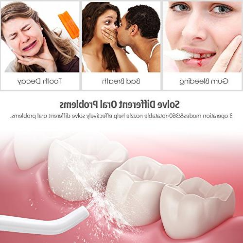 Water Dental Portable Waterproof Modes Water Flossing with Cleanable Travel, Care