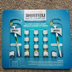 Listerine Ultra-Clean Access Flosser with Two Handles and 10